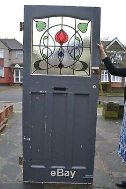 English leaded light stained glass front door NEW PANEL! R864. Delivery option