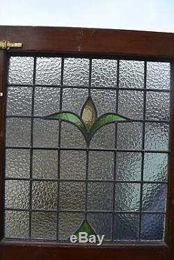 English stained glass front door RESTORED PANEL. R416. Delivery options