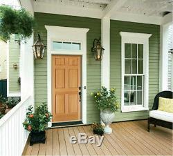 Exterior Entry Hemlock Wood 6 Panels Raised Solid Stain Grade Traditional Doors