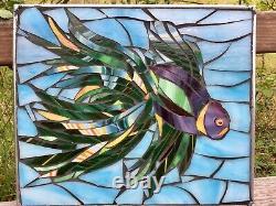 Fish Stained Glass Mosaic Nautical Ocean Aquarium Wall Panel