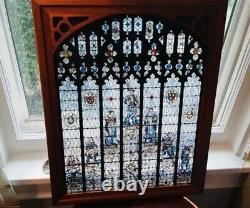 Glassmasters Stained Glass Tableau Panel Shakespeares Seven Ages Of Man