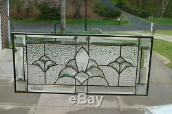 GorgeousClear stained glass and bevel window panel
