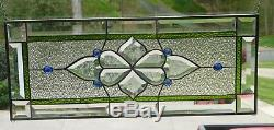 Green n Blue Stained Glass and Beveled Panel