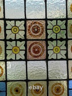 Hand painted Mid Victorian stained glass panel renovated