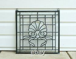 Handcrafted stained glass Clear Beveled window panel, 16 x 16