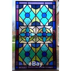 Handmade Stained Glass Window Door Panels, Made To Order, Large Panel