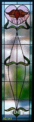 Heritage Craftsman exterior Front Door Stained glass Panels SGH541