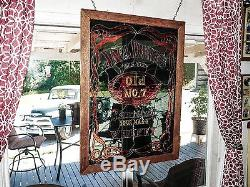 Jack Daniels stained glass window panel to hang Only one made 27 in by 37 in