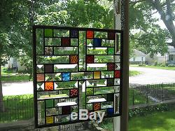 Jewel Stained Glass Windows Panel Sidelight