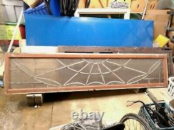 Leaded Stained Glass Transom panel Colorless glass medallions 22x98x1-1/8