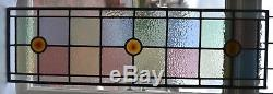 Leaded light stained glass window panel for above door R690. DELIVERY