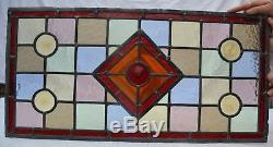 Leaded light stained glass window panel for above door. R761a. (MORE AVAILABLE!)