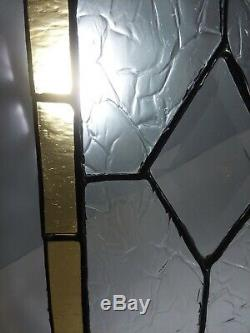 Lot Set 4 Vtg Stained Glass Cabinet Door Panels Red Yellow Clear 7 3/4 x 12 7/8