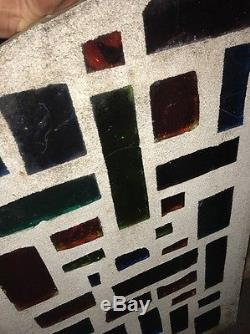 MCM Chunk Stained Glass Architectural Panel