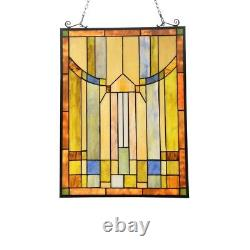 Mission Design Stained Glass Window Panel Tiffany Style Home Decor