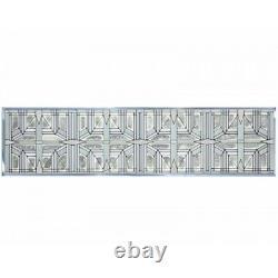 Prairie White Art Glass Window Panel Suncatcher 42 x 10.25 Horizontal