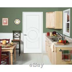 Primed Custom Carved 3 Panel Oval Center Raised Solid Core Interior Doors #C3140