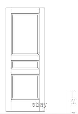 Primed MDF 3 Panel Square Top Raised Panel Solid Core Interior Doors Model# 3NTC