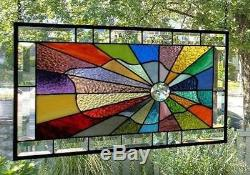 RADIANT PRISMS Stained Glass Window Panel (Signed and Dated)