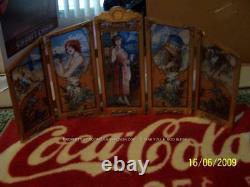 RARE 1986 Coca Cola Screen 4 SEASON 5 PANEL STAIN Coke GLASS Drink US HISTORICAL