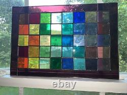 Rainbow Stained Glass Sun catcher, Stained Glass Panel, Window Hanging