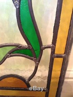 Reclaimed Vintage Art Deco Original Bevelled Stained Glass Door Panels Fantastic