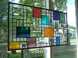 Revelation Stained Glass Window Panel Transom