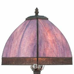 River of Goods Stained Glass Bent Panel Table Lamp