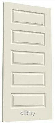 Riverside 5 Panel Primed Smooth Solid Core Molded Wood Composite Interior Doors