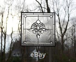 SOLD OUT! Tiffany Style stained glass Clear Beveled window panel 20 x 20