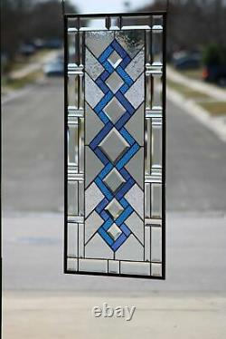 SPECTRUMBeveled Stained Glass Window Panel-Sidelight /Transom-36 7/8x 16