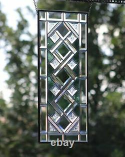 Seafoam Stained Glass Window Panel 28 1/2x12 1/2 Ready2Hang -Transom/sidelight