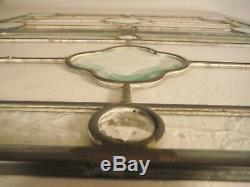 Set of 2 Vintage Beveled Stained Glass Window Panel 20 1/4 x 10 Each