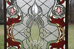 Sold out! Tiffany Style Beveled stained glass window panel. 21W x 35.5H