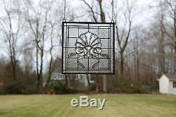 Sold out! Tiffany Style stained glass Clear Beveled window panel, 16 x16