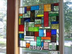 Spirited Stained Glass Beveled Windows Panel