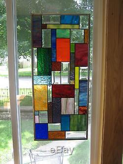 Splashy Stained Glass Beveled Windows Panel Origianl