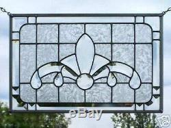 Stained Glass Bevel Panel Window Clear