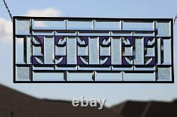 Stained Glass Beveled Window Panel- Hanging 28 1/2 x 11 1/2Chain of Love