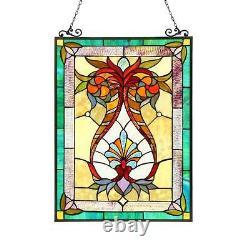 Stained Glass Chloe Lighting Victorian Window Panel CH3P804RF25-GPN 17.5 X 25