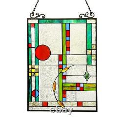 Stained Glass Chloe Lighting Window Panel CH3P700CO24-GPN 17.5 X 25 Handcrafted
