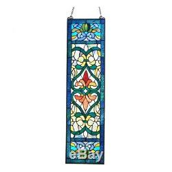 Stained Glass Fleur De Lis Tiffany Style Window Front Door Panel ONE THIS PRICE