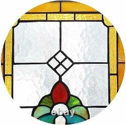 Stained Glass Multi Colored Abstract Panel