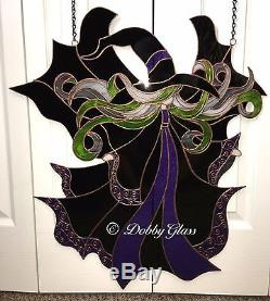 Stained Glass Panel Witch Handmade
