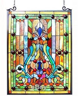 Stained Glass Panel for Window Tiffany Style Suncatchers Mission Victorian Decor