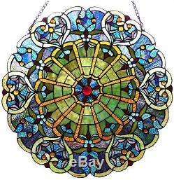 Stained Glass Panel for Window Tiffany Style Suncatchers Vintage Look Victorian