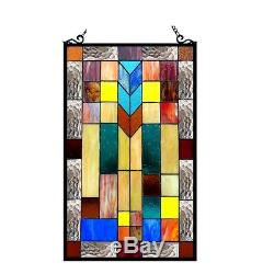 Stained Glass Tiffany Style Window Panel Arts & Crafts LAST ONE THIS PRICE