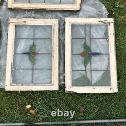 Stained Glass Window Original 1930's Coloured Leaded Panels