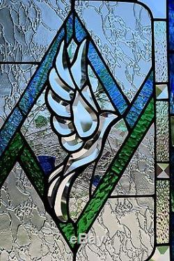 Stained Glass Window Panel Beveled Dove