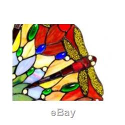 Stained Glass Window Panel Hanging Art Dragonfly Sun Catcher Mobile Tiffany